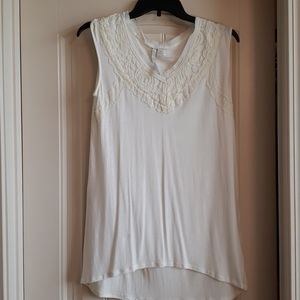 Lauren Conrad lace sleeveless blouse